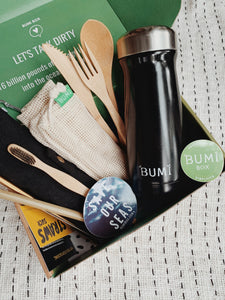 Reuseable, Eco-friendly, Plastic-free Starter Kit - Moonstone - Onyx - Bumi Box