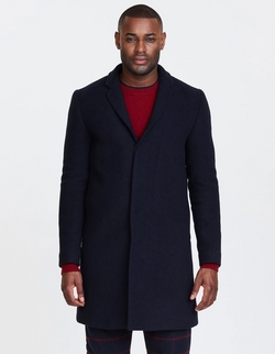 Les Deux Frielle Tailored Coat Navy