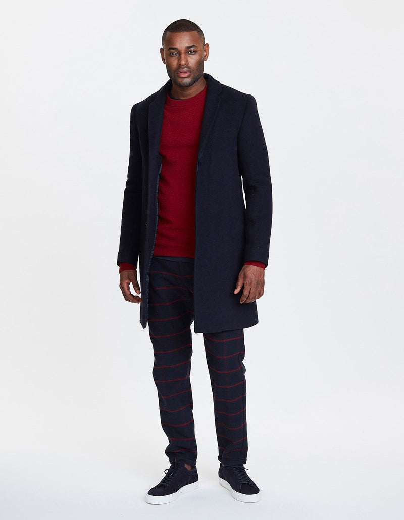 Les Deux Jakke Frielle Tailored Coat Navy