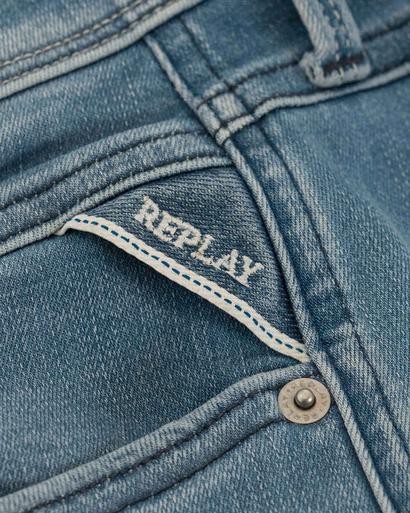 Replay Bukse Jeans Anbass Hyperflex Light Blue