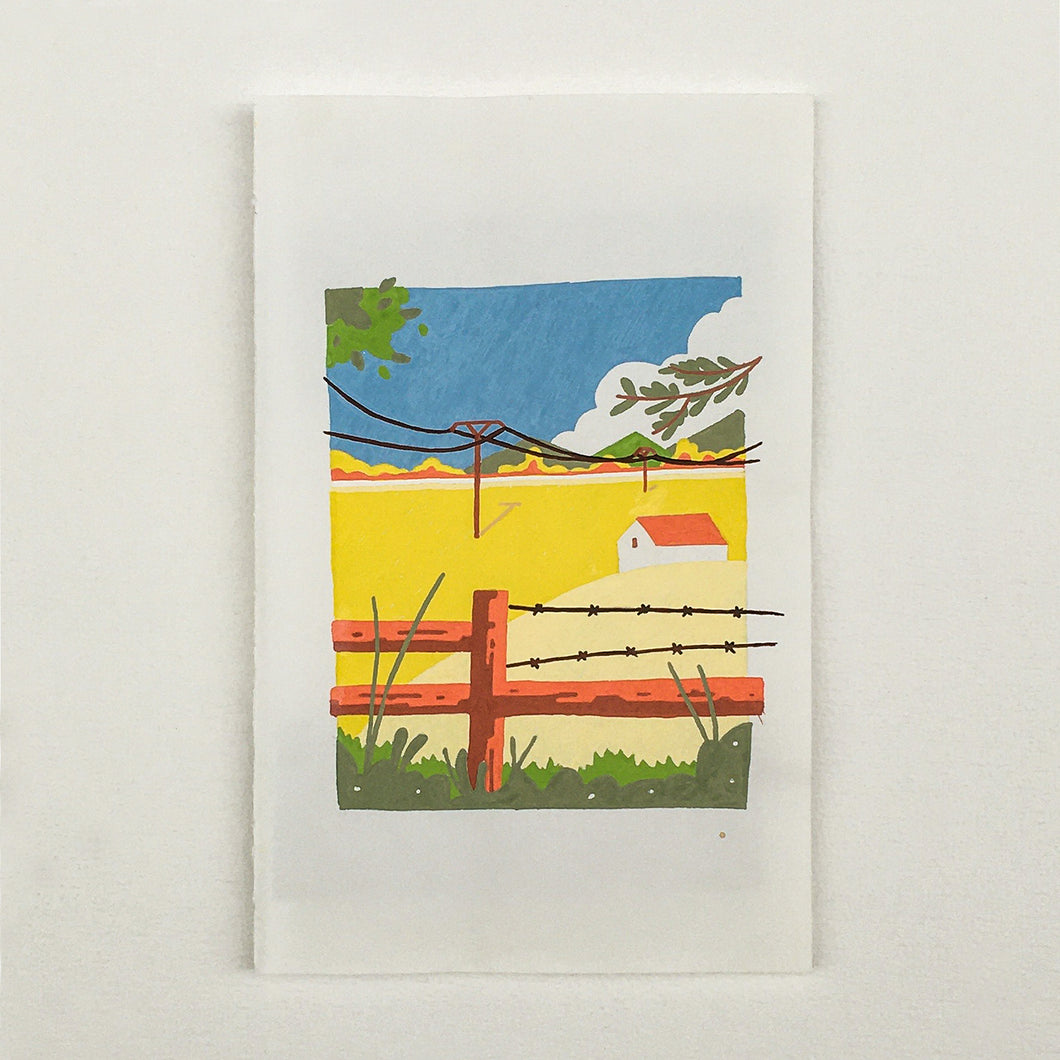 Originel print - Bird view - Campsite view