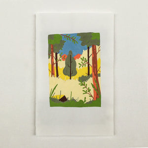 Originel print - Bird view - Sunny forest