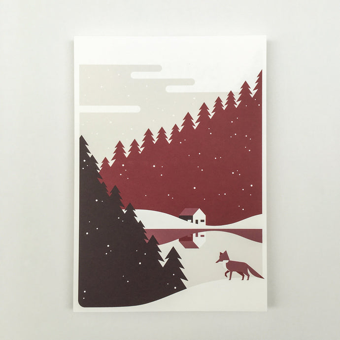 Christmas, Christmas cards red A5, envelops included