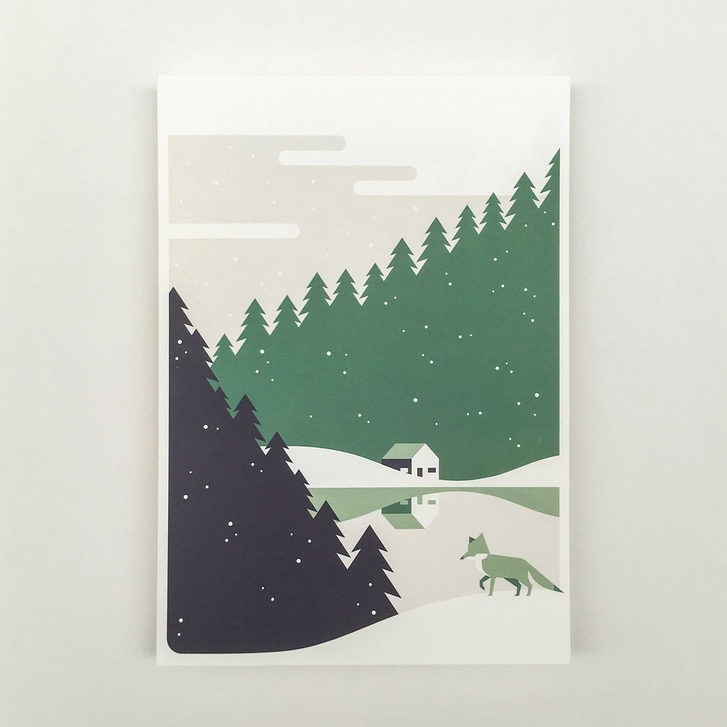 Christmas, 3 colors Christmas cards A5, envelops included