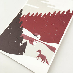 Christmas, Christmas cards green A5, envelops included