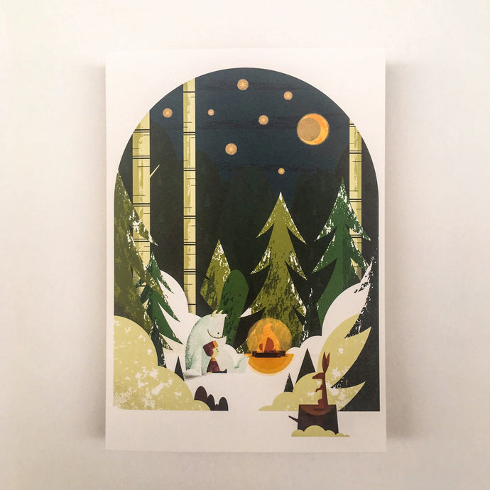 Christmas - Winter card A5, envelops included