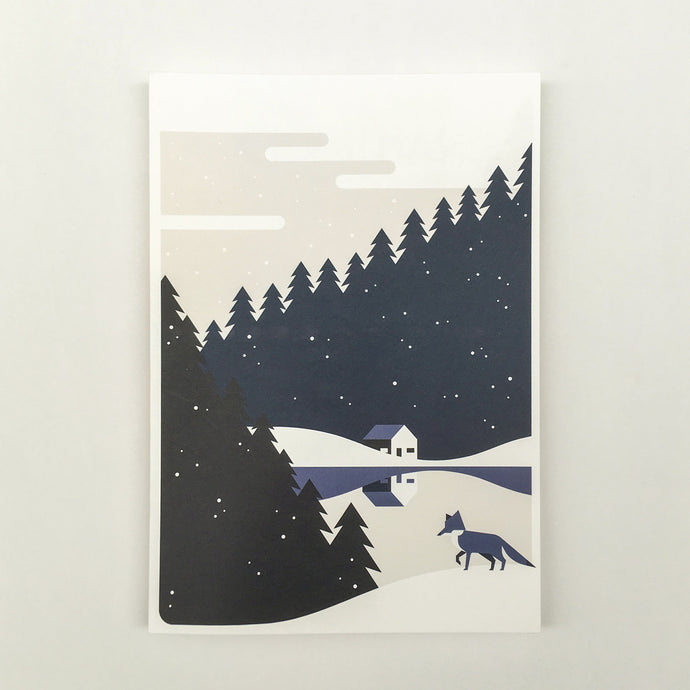 Christmas, Christmas cards blue A5, envelops included