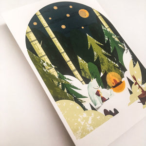 Winter card A5, envelops included