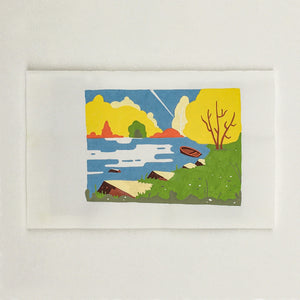 Originel print - Bird view - Rocky river