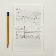 Load image into Gallery viewer, Originel print - Bird view - Drawing campside view