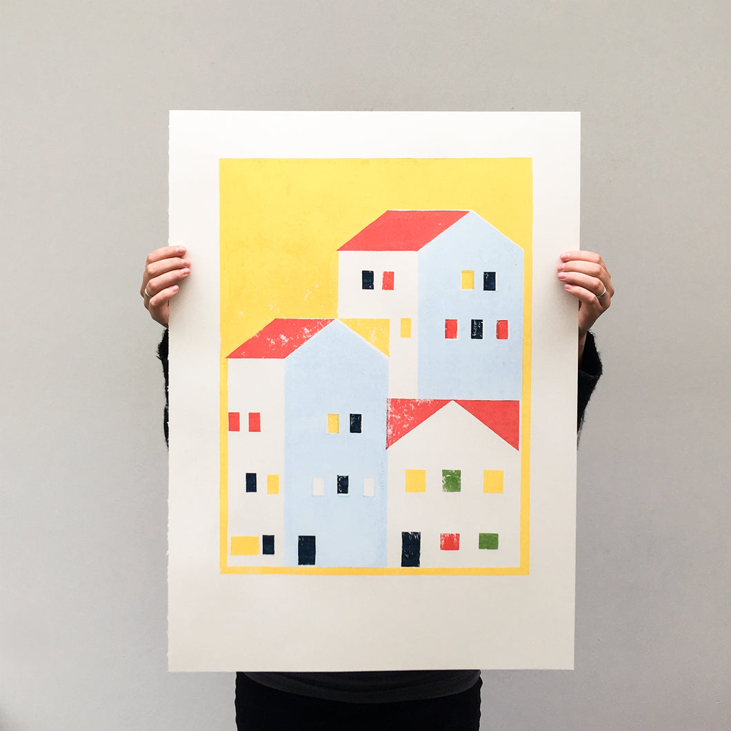 Urban city - print yellow