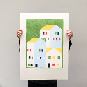 Urban city - print green