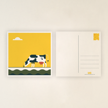 Load image into Gallery viewer, Postcard - cow, including envelops