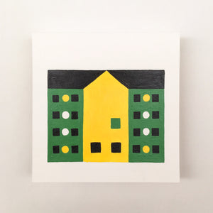 Tiny Houses #025 - Original painting