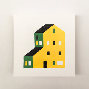 Tiny Houses #017 - Original painting