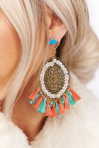 Tassel talk earrings