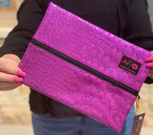 Load image into Gallery viewer, Kinda Purple Kinda Pink makeup junkie bag