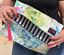 Load image into Gallery viewer, Watercolor makeup junkie bag