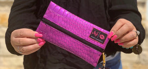 Kinda Purple Kinda Pink makeup junkie bag