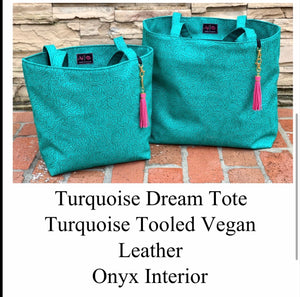Turquoise dream makeup junkie tote