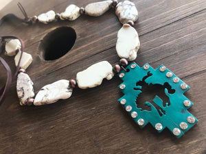Bronc necklace