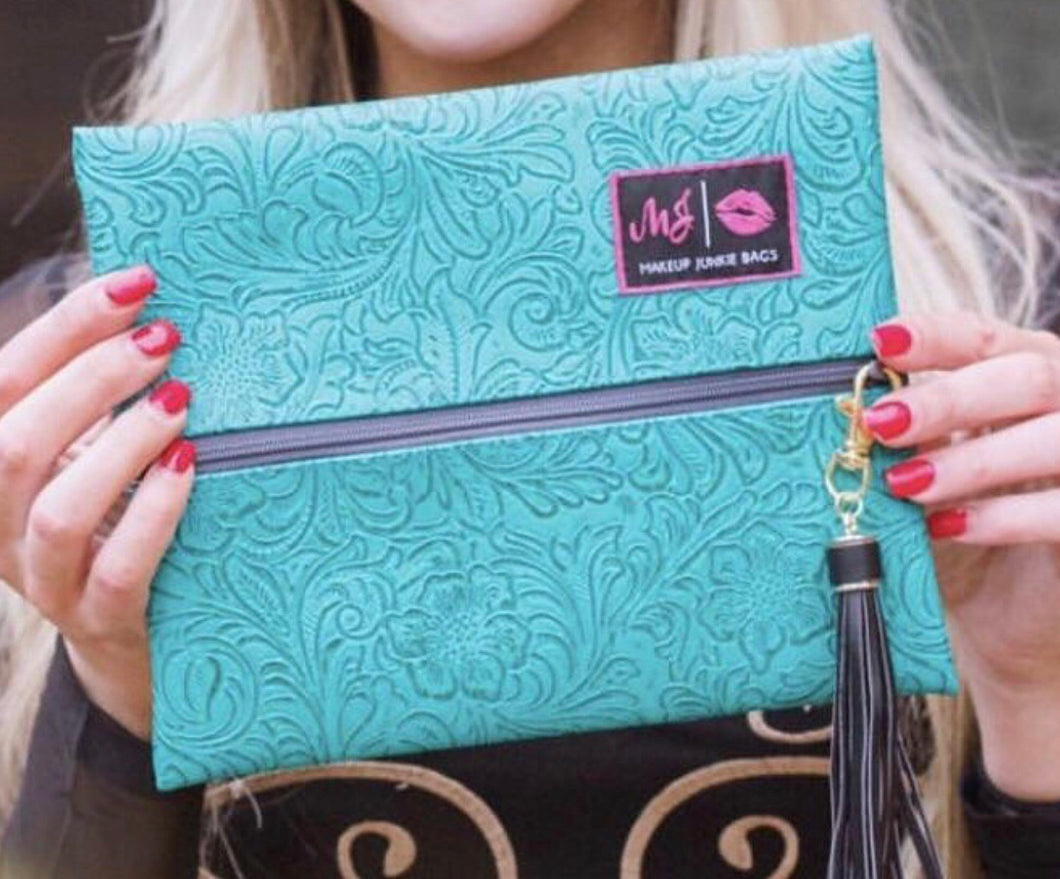 Turquoise dream makeup junkie bag {LARGE}
