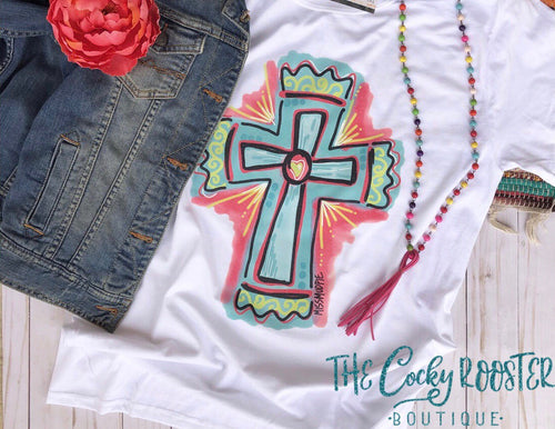 Painted cross tee