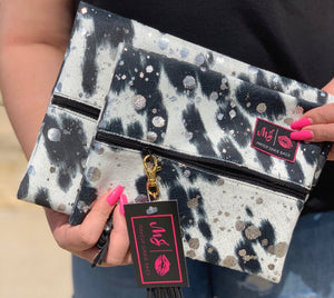 Rodeo queen {black acid wash} makeup junkie bag