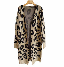 Load image into Gallery viewer, Long cheetah cardigan
