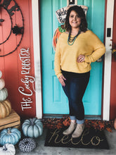 Load image into Gallery viewer, Ever so cozy twist sweater {Mustard} {reversible}