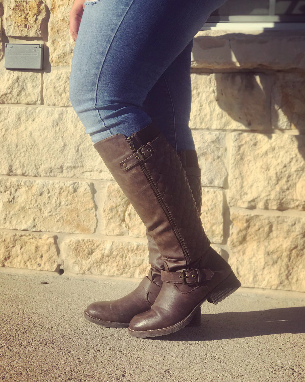 Savannah brown knee boots