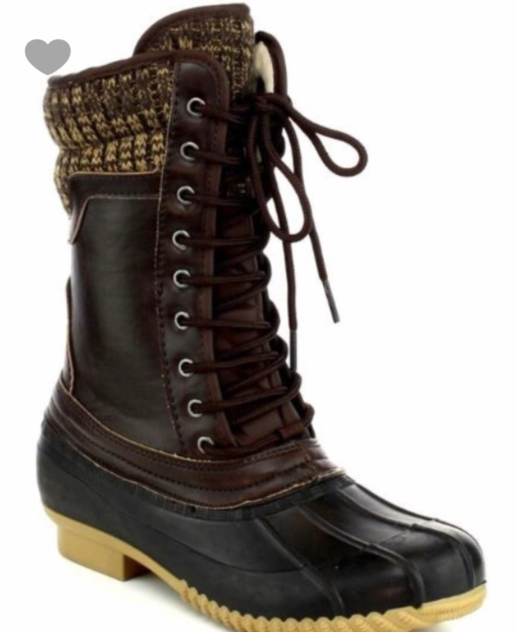 Lace up duck boots