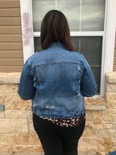 Load image into Gallery viewer, The American way denim jacket {Lightly distressed}