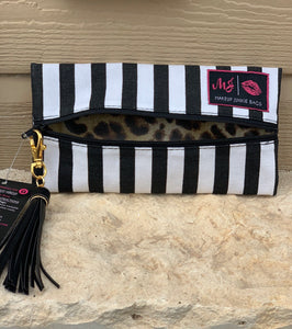 Glam stripe {MINI} Makeup junkie bag