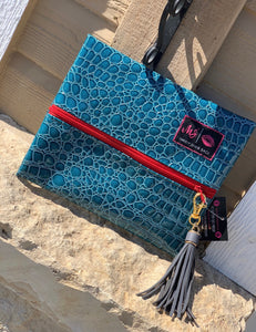 Ocean gator {small} makeup junkie bag