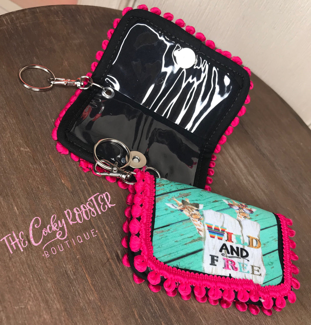 Keychain wallet {Wild and free}