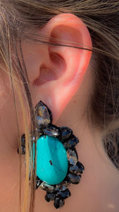 Turtle dove earrings