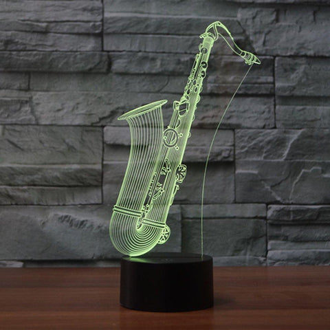 3D LED Night Light Saxophone - Superdeals-Cart