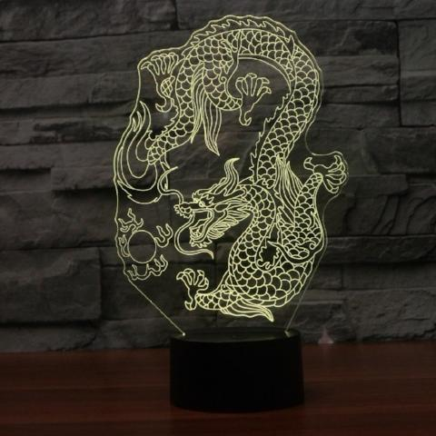 3D LED Night Light Dragon - Superdeals-Cart