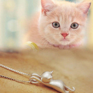 Silver Cat Pendant Bracelet - Superdeals-Cart