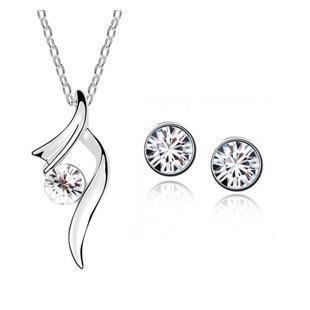 Plated Austria Crystal Necklaces & Pendants Earrings Jewelry Sets - Superdeals-Cart