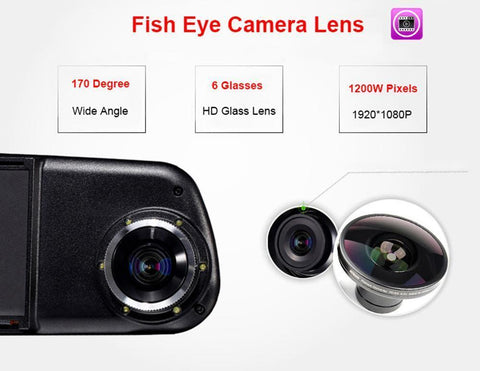 Dual Lens Dash Car Camera (1080P) - Superdeals-Cart