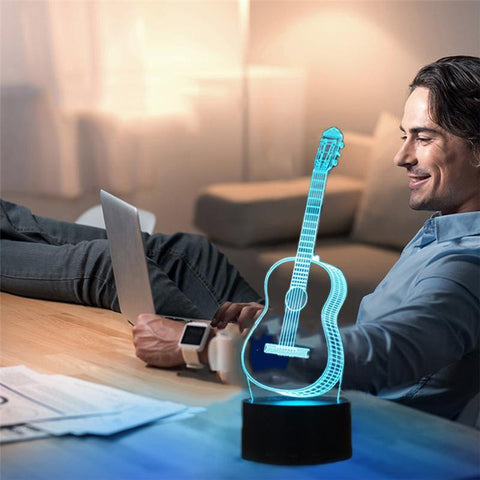 3D LED Night Light Guitar - Superdeals-Cart