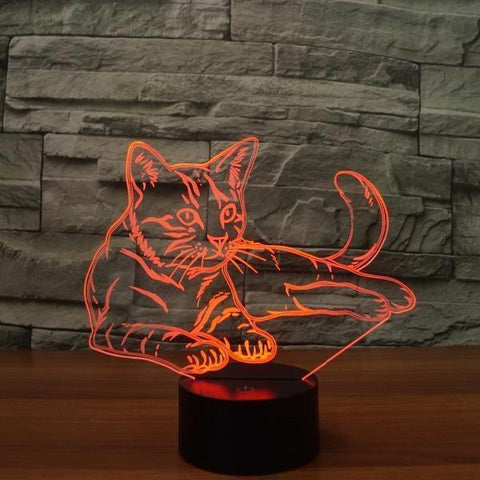 3D LED Cat Night Light - Superdeals-Cart