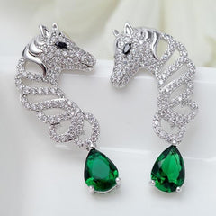 Signature Crystal Horse Earring