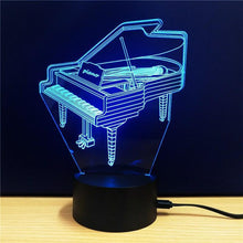 Load image into Gallery viewer, Exquisite 3D LED Piano Design Novelty Light lamp - Superdeals-Cart