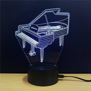 Exquisite 3D LED Piano Design Novelty Light lamp - Superdeals-Cart