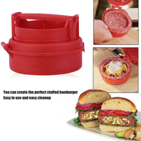New Stuffed Burger Making Press Hamburger Maker Kitchen Cooking Tool P20