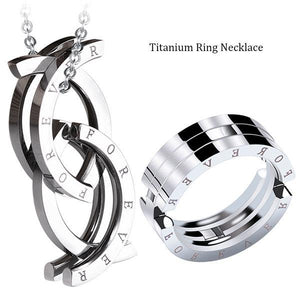 Titanium Ring Necklace