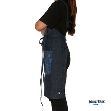 Load image into Gallery viewer, Denim/Paisley Full Cross-Back Apron